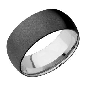 Lashbrook TISLEEVEZ9D Zirconium and Titanium Wedding Ring or Band