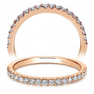 Taryn 14 Karat Rose Gold Straight Wedding Band TW7510K44JJ