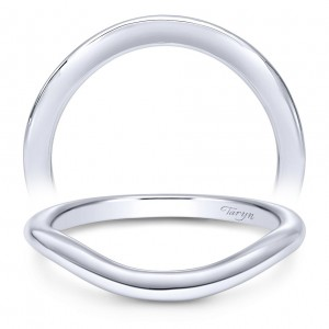 Taryn 14 Karat White Gold Curved Wedding Band TW10450W4JJJ