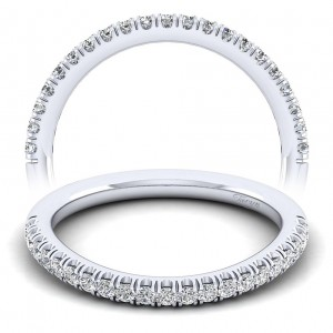 Taryn 14 Karat White Gold Matching Curved Wedding Band TW10252W44JJ