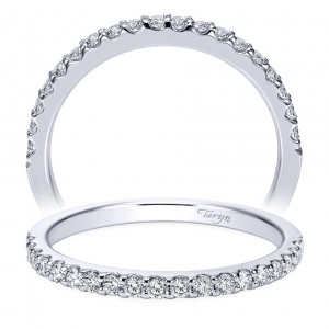 Taryn 14 Karat White Gold Round Straight Wedding Band TW7510W44JJ