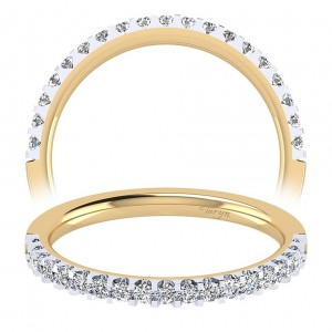 Taryn 14 Karat Yellow Gold Straight Wedding Band TW7510Y44JJ