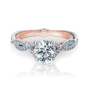 Verragio Couture-0421DR-TT Platinum Engagement Ring