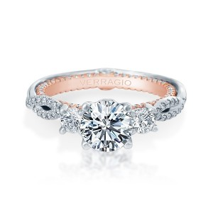 Verragio Couture-0423DR-TT Platinum Engagement Ring