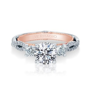 Verragio Couture-0423R-TT Platinum Engagement Ring