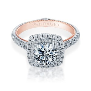 Verragio Couture-0425CU-TT Platinum Engagement Ring