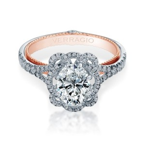 Verragio Couture-0426OV-TT Platinum Engagement Ring