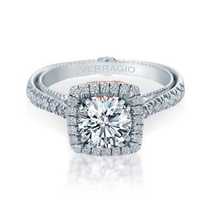 Verragio Couture-0433CU-TT Platinum Engagement Ring