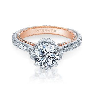 Verragio Couture-0464R-2WR Platinum Engagement Ring