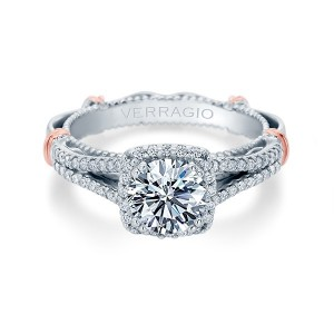 Verragio Parisian-107CU Platinum Engagement Ring