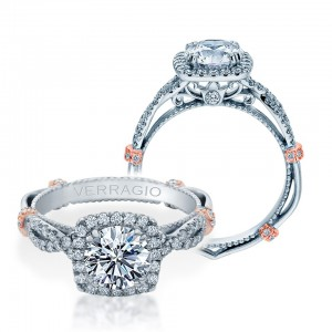 Verragio Parisian-DL106CU Platinum Engagement Ring