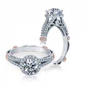 Verragio Parisian-DL107R Platinum Engagement Ring