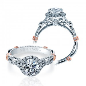 Verragio Parisian-DL109R Platinum Engagement Ring