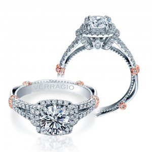 Verragio Parisian-DL117CU Platinum Engagement Ring