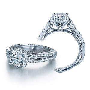 Verragio Venetian-5014R Platinum Engagement Ring