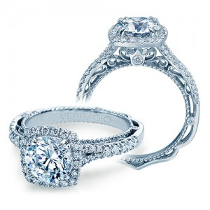 Verragio Venetian-5057CU Platinum Engagement Ring