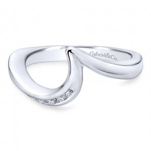 Gabriel 14 Karat Contemporary Wedding Band WB4309W44JJ