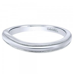 Gabriel 14 Karat Curved Matching Wedding Band WB10260W4JJJ