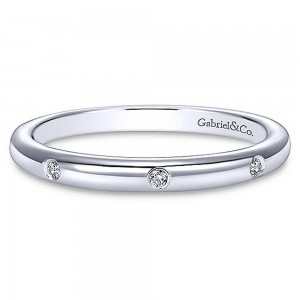 Gabriel 14 Karat Straight Matching Wedding Band WB8077W44JJ