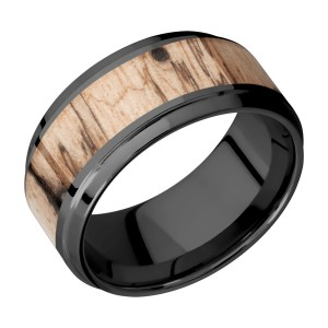 Lashbrook Z10B16(S)/HARDWOOD Zirconium Wedding Ring or Band