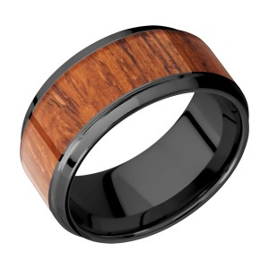Lashbrook Z10B17(S)/HARDWOOD Zirconium Wedding Ring or Band