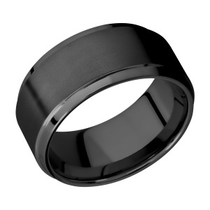 Lashbrook Z10B(S) Zirconium Wedding Ring or Band