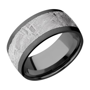 Lashbrook Z10D17/METEORITE Zirconium Wedding Ring or Band