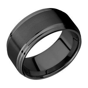 Lashbrook Z10F2S Zirconium Wedding Ring or Band