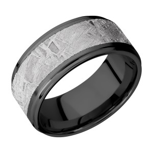 Lashbrook Z10FGE17/METEORITE Zirconium Wedding Ring or Band