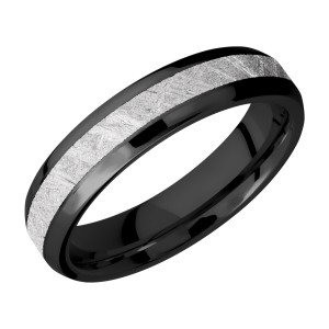 Lashbrook Z5B13(NS)/METEORITE Zirconium Wedding Ring or Band