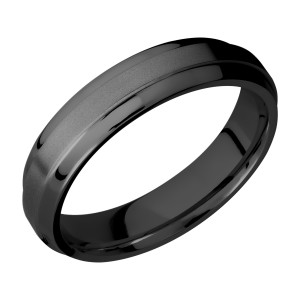 Lashbrook Z5B(S) Zirconium Wedding Ring or Band