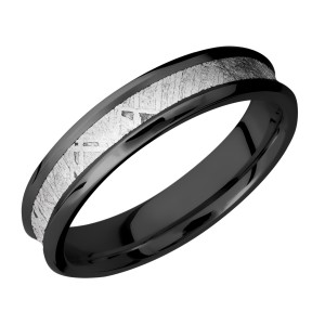 Lashbrook Z5CB13/Meteorite Zirconium Wedding Ring or Band