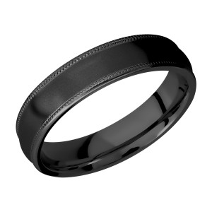 Lashbrook Z5DMIL Zirconium Wedding Ring or Band