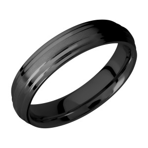 Lashbrook Z5F2S Zirconium Wedding Ring or Band
