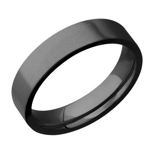 Lashbrook Z5FR Zirconium Wedding Ring or Band