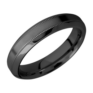 Lashbrook Z5HB2UMIL Zirconium Wedding Ring or Band