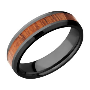 Lashbrook Z6B13(NS)/HARDWOOD Zirconium Wedding Ring or Band