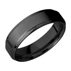 Lashbrook Z6B(S) Zirconium Wedding Ring or Band
