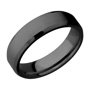Lashbrook Z6B Zirconium Wedding Ring or Band