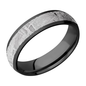 Lashbrook Z6D14/METEORITE Zirconium Wedding Ring or Band