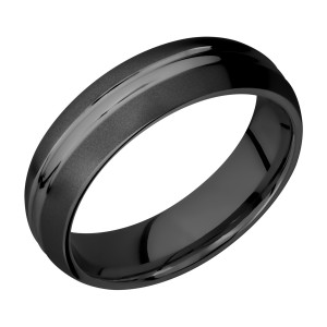 Lashbrook Z6DD Zirconium Wedding Ring or Band