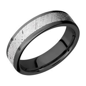 Lashbrook Z6F14/METEORITE Zirconium Wedding Ring or Band