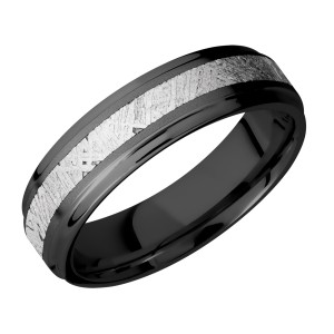 Lashbrook Z6FGE13/METEORITE Zirconium Wedding Ring or Band