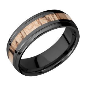 Lashbrook Z7B13(S)/HARDWOOD Zirconium Wedding Ring or Band