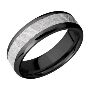 Lashbrook Z7B14(NS)/METEORITE Zirconium Wedding Ring or Band