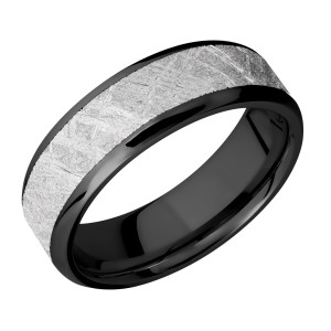 Lashbrook Z7B15(NS)/METEORITE Zirconium Wedding Ring or Band