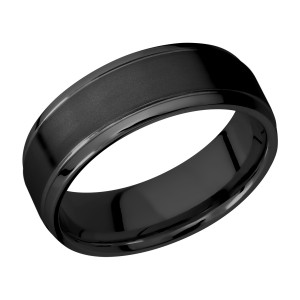 Lashbrook Z7B(S) Zirconium Wedding Ring or Band