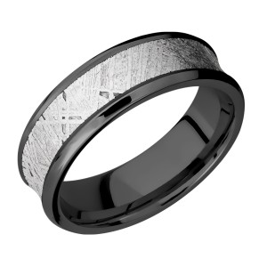 Lashbrook Z7CB15/Meteorite Zirconium Wedding Ring or Band