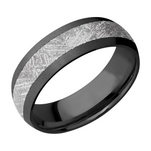 Lashbrook Z7D14/METEORITE Zirconium Wedding Ring or Band