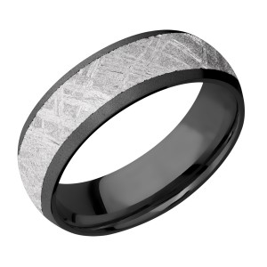 Lashbrook Z7D15/METEORITE Zirconium Wedding Ring or Band